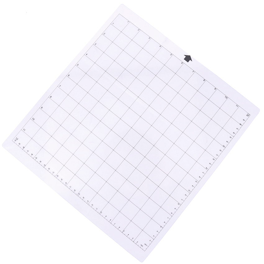 1PC Transparent Adhesive Mat With Measuring Grid 30.5 X 30.5cm Replacement Cutting Mat For Silhouette Plotter Machine