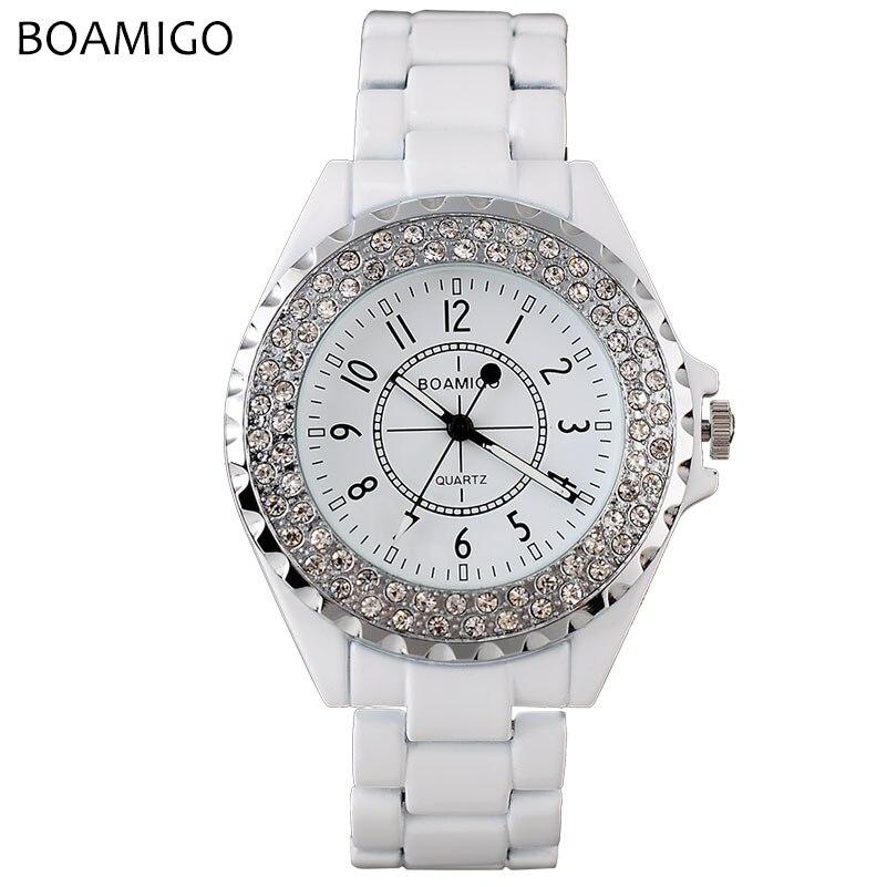 BOAMIGO Women Watches Women Top Famous Brand Luxury Casual Quartz Watch Female Ladies Watch Women Wristwatches Relogio Feminino