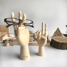 Wood Finger Shaped Props glasses display bracelet jewelry wi