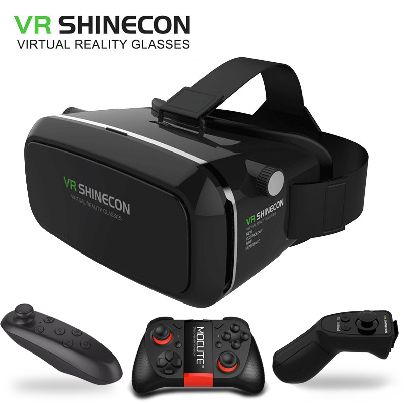 Hot VRShinecon Virtual Reality VR 3D Glasses Fit 4.7-6.0 inch Smartphone With Wireless Bluetooth Controller Global free shipping