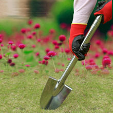 free shipping stainless steel alloy Spade garden Shovel ripper Outdoor fishing flowers cultivator agricultural Gardening tool