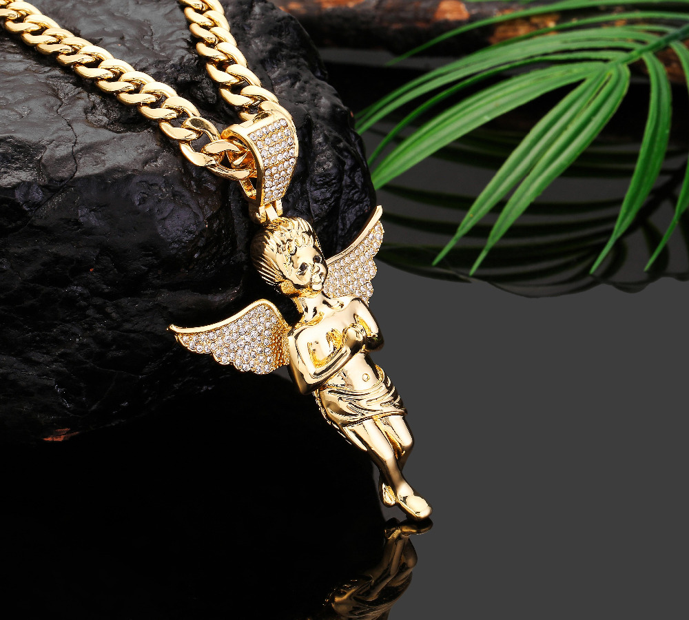 angel pendant all gabi collections yellow styles products gold pendants chain diamond jeweler