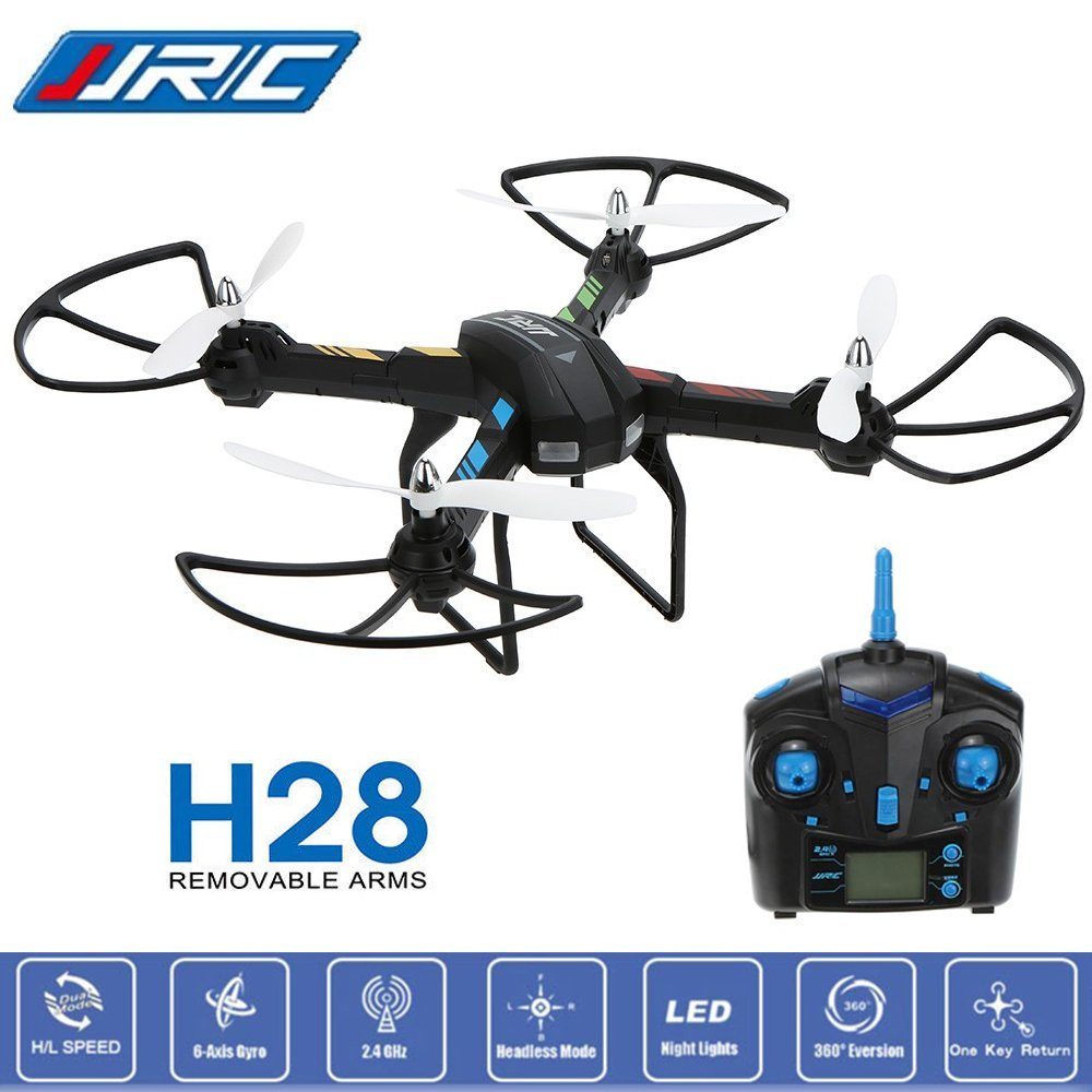 JJRC H28 2.4G 4CH 6-Axis Gyro Removable Arms RTF RC Quadcopter Drone Helicopters with Headless Mode and One Key Return jjrc h33 mini drone rc quadcopter 6 axis rc helicopter quadrocopter rc drone one key return dron toys for children vs jjrc h31