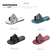 New Arrival Womens Summer Shoes Casual Rivet Flat Slippers Soft Fashionable