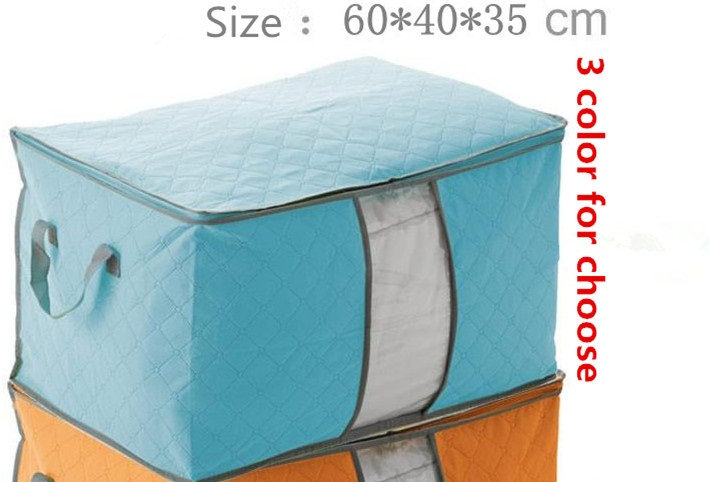 Creative Home Bamboo Comforter Storage Bag Is Convenient And Practical Colorful Quilt Dust Proof In Bo Bins From Garden