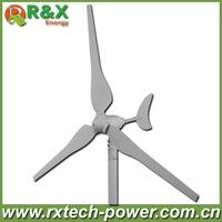 Großhandel 100 watt wind turbine generator mit 3 stücke klingen, 12 V/24 V optional windmühle generator verwendet für land und marine.