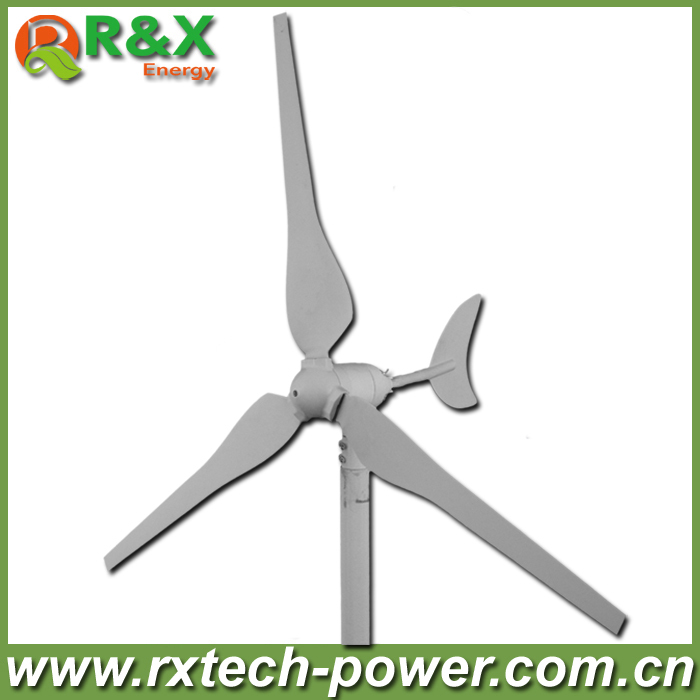 Wholesale 100w wind turbine generator with 3 pcs blades, 12V/24V optional windmill generator used for land and marine.