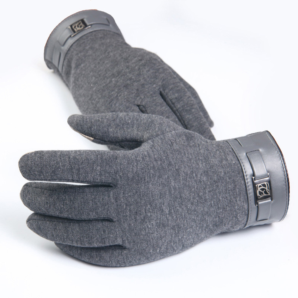 Womens leather smartphone gloves - Winter Mens Full Finger Smartphone Cashmere Gloves Motorcycle Tactical Mittens Comfortable Warm Fashion Guantes