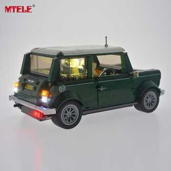 MTELE Brand High Quality LED Light Up kit For Technic Series Mini Cooper Light Set Compatible With 10242 (Not Include The Model)