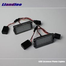 цена на Liandlee For Volkswagen VW Lupo 1998~2006 EOS 2006~2009 LED Car License Plate Lights Number Frame Light / High Quality LED Lamp