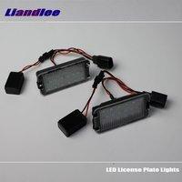 Liandlee For Volkswagen VW Lupo 1998~2006 EOS 2006~2009 LED Car License Plate Lights Number Frame Light / High Quality LED Lamp
