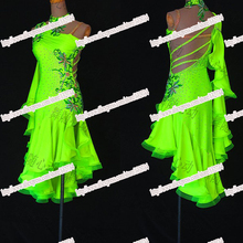 Competition Latin dance dress,tango salsa samba dance dress,latin dance wear,salsa dress,DMC stones fringe latin dress,Girls