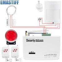 אזעקת GSM משלוח חינם עבור מערכת אבטחה בבית עם Wired PIR/דלת חיישן אנטנה כפולה אזעקה