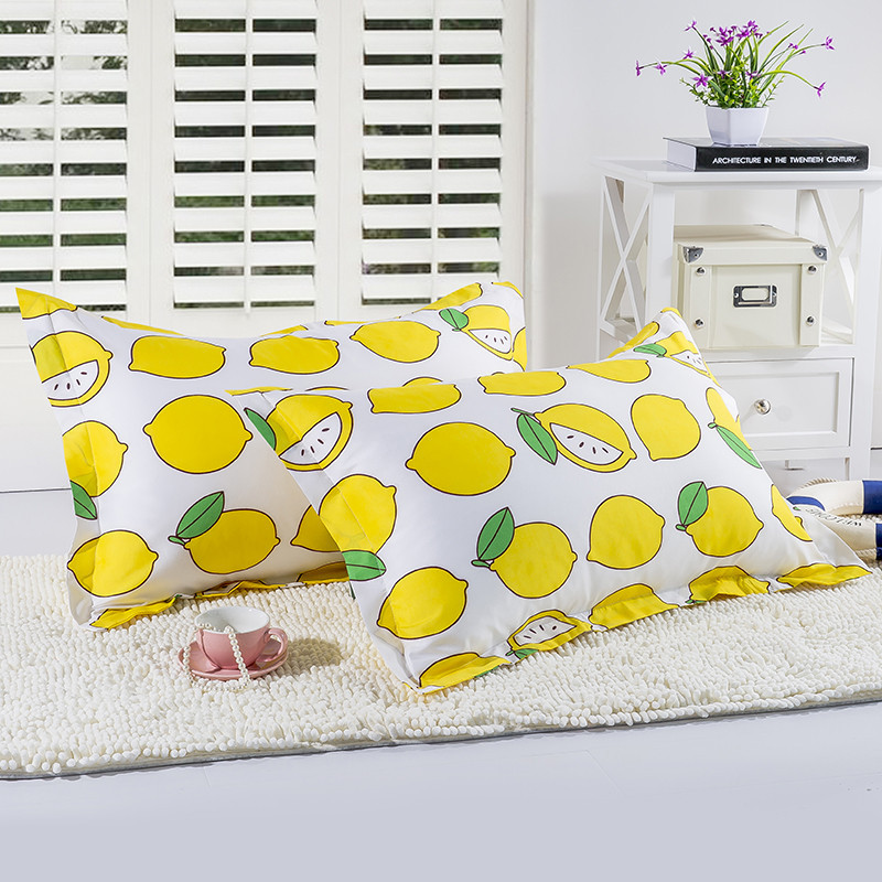 Power Source 1 Piece 48cm*74cm Cartoon Lemon Printed Pillowcase For Children Bedroom Use Anime Fruit Pillow Case Cover50 Solar