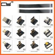 FPV Micro HDMI Mini HDMI Adaptador grau 90 5 cm-100 cm FPC Fita Flat Cable HDMI Pitch 20pin plugue Conector(China)