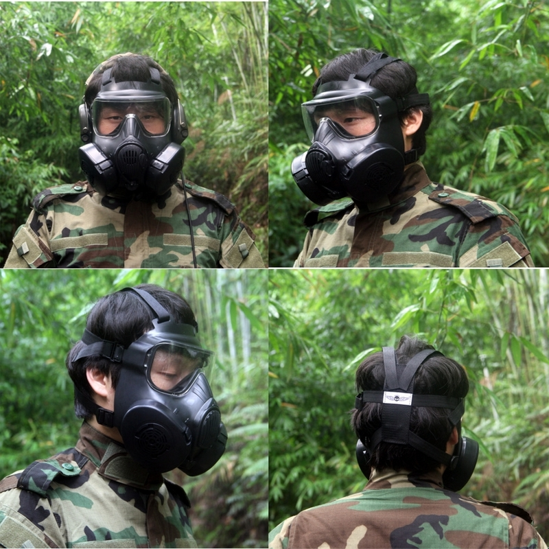Tactical Skull Masks Fog Fan Military Gas Mask Black Training Mask For CS Wargame Airsoft Paintball Sport Security Supplies M50 m04gas mask use for tactical competition dummy gas mask fan multiple color innovative design for cosplay protection gear wargame