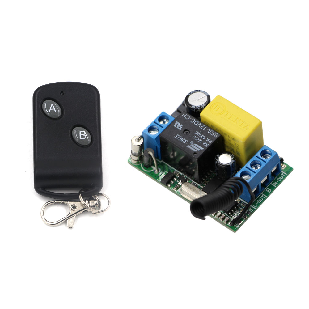 AC 220V Wirelesss Remote Control Switch 1CH 10A Relay Receiver Remote Controller Transmitter Lights Lamp Power Switch 433MhzAC 220V Wirelesss Remote Control Switch 1CH 10A Relay Receiver Remote Controller Transmitter Lights Lamp Power Switch 433Mhz