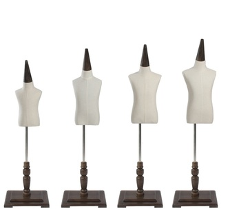 Half Body Child Children Mannequin With Wooden Base For Cloth Display