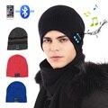 Chapéu Tampas Inteligentes fones de ouvido de Música sem fio Bluetooth Fone De Ouvido Quente Gorros Chapéu Do inverno com Speaker Mic para homens e mulheres
