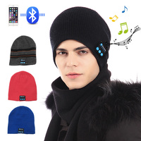 Wireless Bluetooth Music headphones hat Smart Caps Headset Warm Beanies winter Hat with Speaker Mic for men and women