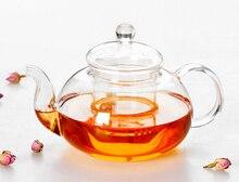 1 STÜCK 800 ml Filterdurchlässig Glas Teekanne Hitzebeständigem Blume Tee-Set Kaffee Teekanne Bequem Küche Büro Tee-Set J1010