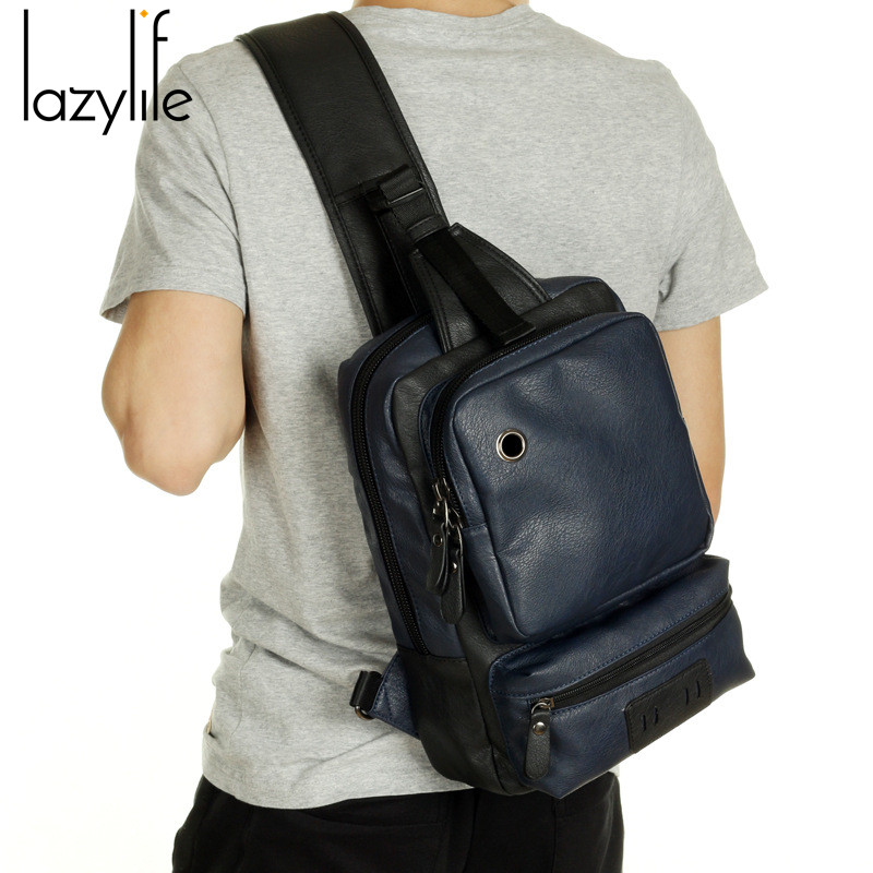 Aliexpress.com : Buy LAZYLIFE Men PU Leather Messenger Male Bag ...