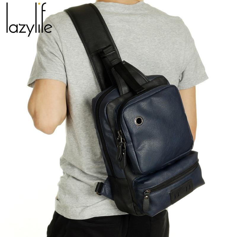 Aliexpress.com : Buy LAZYLIFE Men PU Leather Messenger Male Bag ...