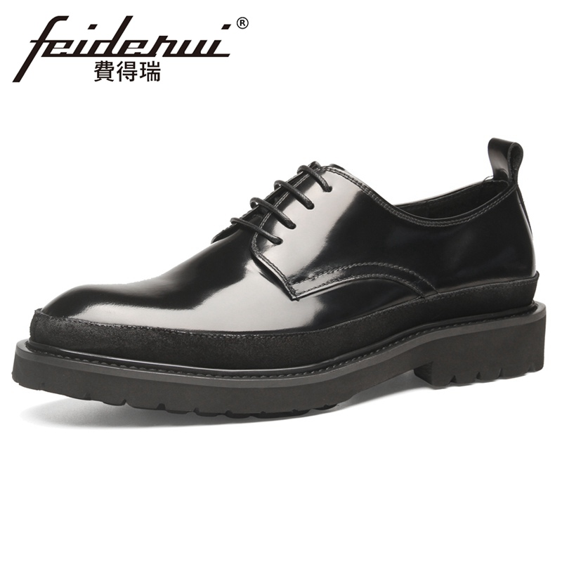 High Quality Cow Suede Handmade Mens Derby Footwear Patent Leather Round Toe Lace-up Man Platform Office Oxfords Shoes YMX736High Quality Cow Suede Handmade Mens Derby Footwear Patent Leather Round Toe Lace-up Man Platform Office Oxfords Shoes YMX736