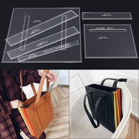 DIY hand made leather durable acrylic mold organ package tote bag handbag design template 30x33x3cm