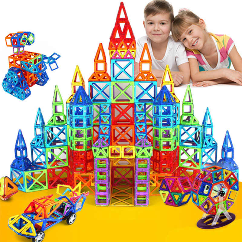 HOT 184pcs-110pcs Mini Magnetic Designer Construction Set Model & Building Toy Magnetic Blocks Educational Toys For Kids Gifts