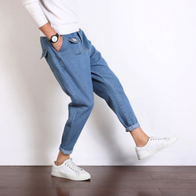 2017 Autumn men's new Preppy style pocket decoration fashion trend Haren pepe casual Ankle-Length pants black/blue jeans M-5XL
