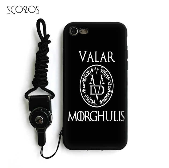 SCOZOS Game Of Thrones valar Silicone TPU Phone Case Soft Cover ...