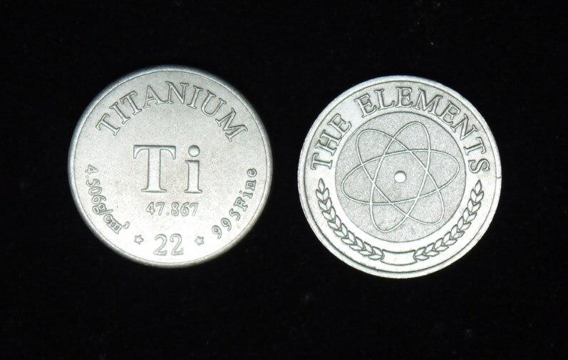 Titanium Element Collection Element Commemorative Coin Series Pure Titanium 99.5% Diameter 20mm, Weighs 2.88g element emerald collection свитер