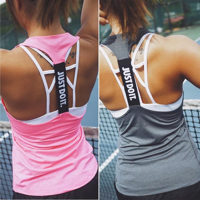 73111fa93 Women Yoga Top Gym Sports Vest Sleeveless Shirts Tank Tops Sport Top  Fitness Women Running Clothes