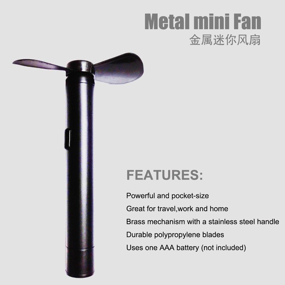 Kostenloser Versand Metall Mini Fan Mini Elektro Fan Stift Modische Geschenke Fan Neuestes Design Mini Handventilator für Kinder