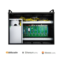 mining case eth USB miner rig BTC IC6S motherboard pc sever machine frame rack for rx470 480 570 580 gtx1060 1070 1080 8GPU card