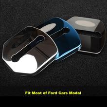 4Pcs Car Door Lock Protective Cover For Most of Ford Focus Escort Kuga Edge Taurus Mondeo Explorer Mustang Ranger Pickup F150