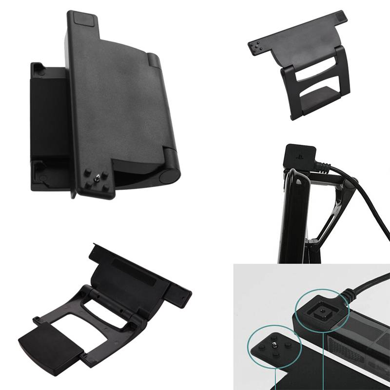 High Quality Vertical Stand Adjustable Clip For PlayStation 4 PS4 TV Stand Hold Holder Camera Mount Black
