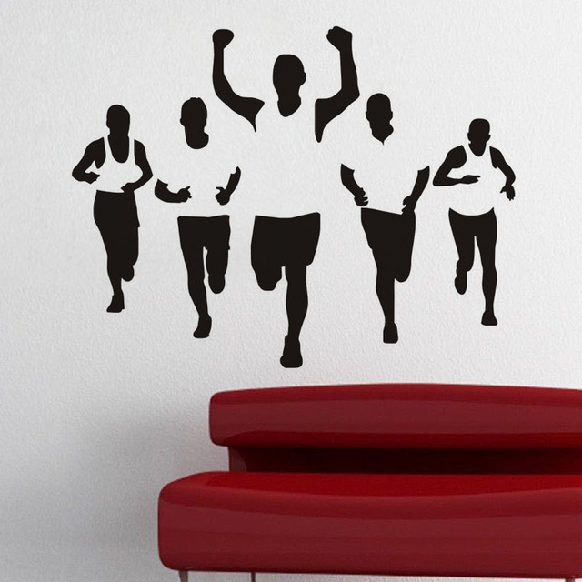 Factory Outlet Sports Running Wall Stickers Yoga Room Health Room ...
