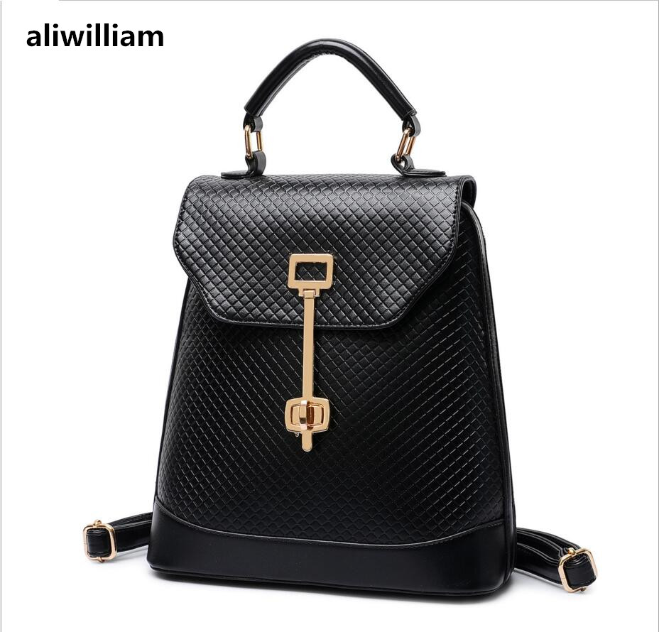 ALIWILLIAM Spring and Summer Brand New Lady Lingge key Lock Shoulder Bag Fashion Trend Female Women