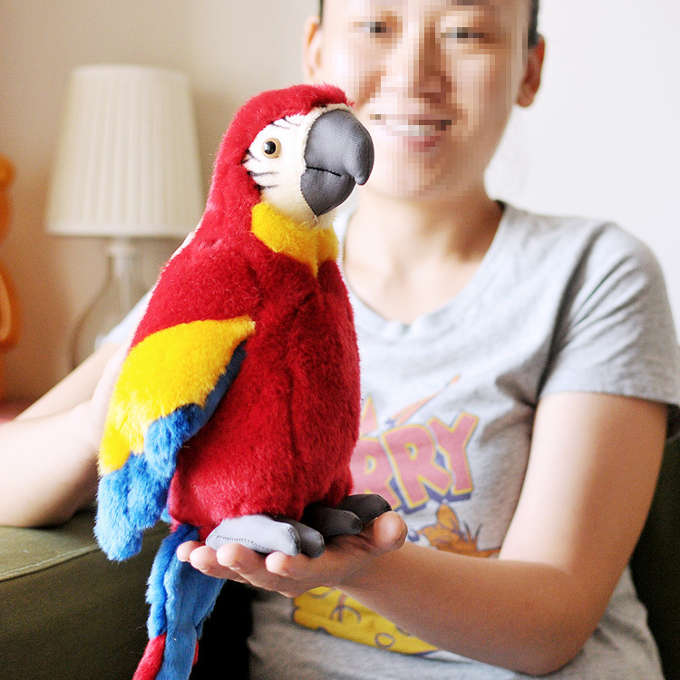 lovely plush simulation tony parrot toy macaw toy cute red mara parrot toy gift about 26cm 0085