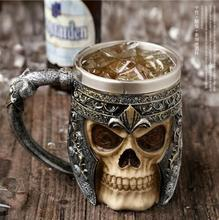 Copa de acero inoxidable 3D Calavera de esqueleto Garra Copas
