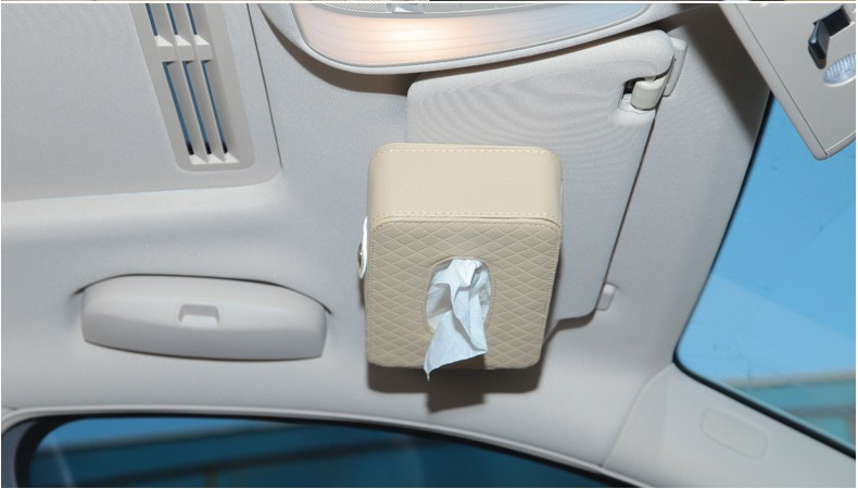 Microfiber Leather Square Tissue Box Holder Rectangular Car Tissue Box Cover Case For Car Seat/Sun Visor/Sunroof Decorative 12