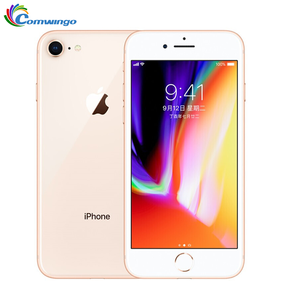 Original Apple iPhone 8 1821mAh 2GB RAM 64 GB/256GB LTE 12.0MP Cámara 4,7 pulgadas Apple huella Hexa-core IOS 3D Touch ID