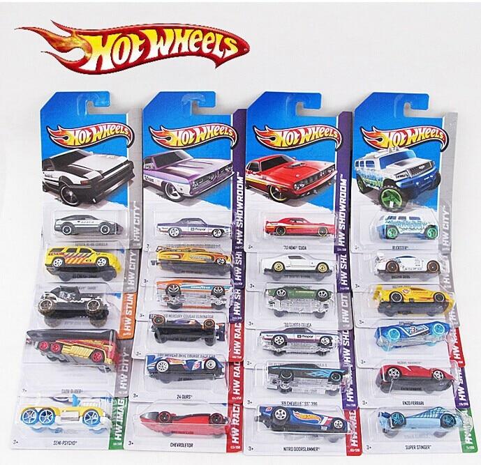 72pcs A Box 100 Hot Wheels Cars Brand Mini Alloy Race Cars Scale