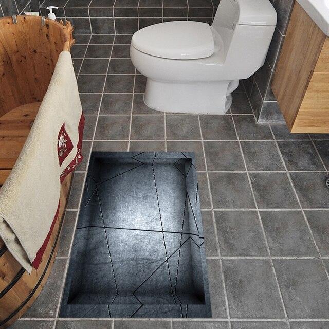 3D Anti Rutsch Boden Aufkleber Wasserdichte Wandaufkleber Küche Toilette 3D  Kreative Malerei Bad Fliesen