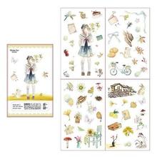 DOLLRYGA Stickers lote jouet enfant Children Autumn Cartoon Girl Gift knutselen kinderen Self-adhesive Children Sticker 4pcs/bag