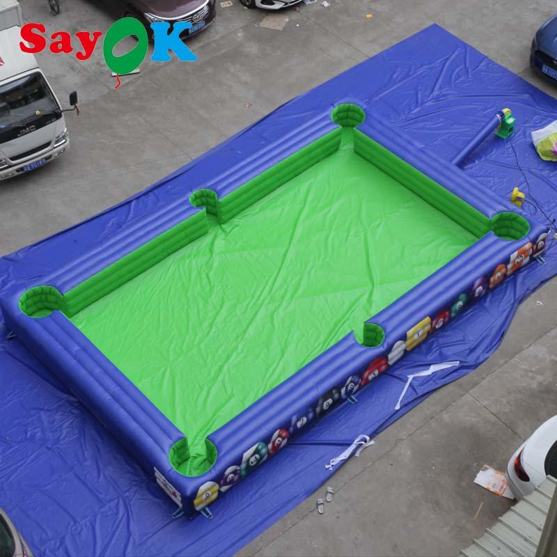 Terrain de billard gonflable pour enfants jouant au jeu de billard avec souffleur d'air pour Commercial/location/aire de jeux/maison
