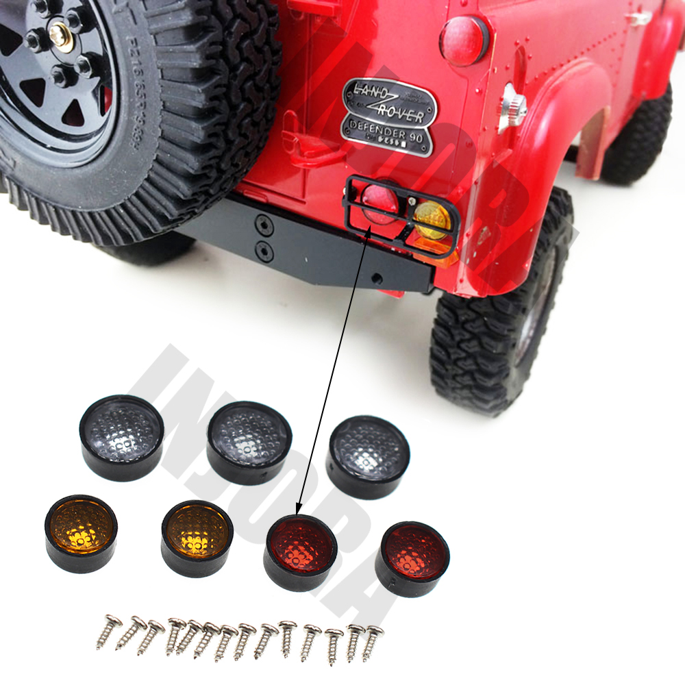7Pcs RC4WD D90 Land Rover Defender D90 Taillight Light Cover for 1:10 RC Crawler D90 Body Car Shell усилитель руля насос для land rover defender 07 ld90 15 внедорожник 2 4 td4 oem lr009817 новый