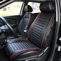 TIROL Single Piece PU Leather Universal Front Single Car Seat Covers Seat Cushion Universal Car Styling